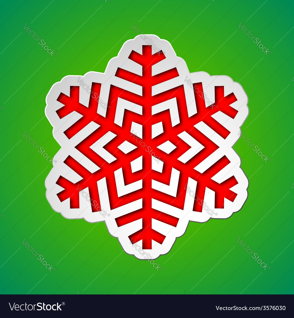 Cut out christmas snowflake vector | Price: 1 Credit (USD $1)