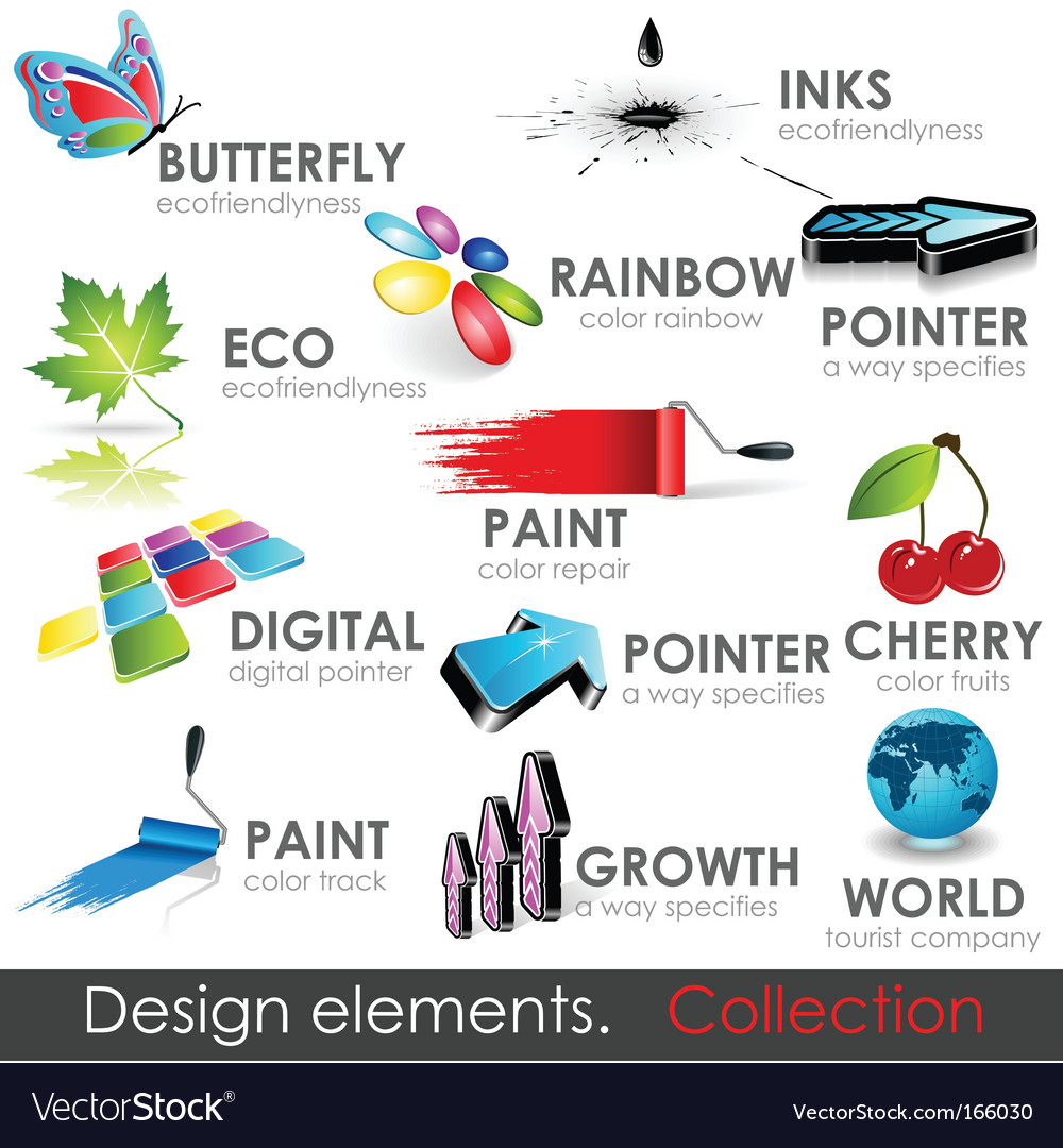 Design elements collection vector | Price: 1 Credit (USD $1)