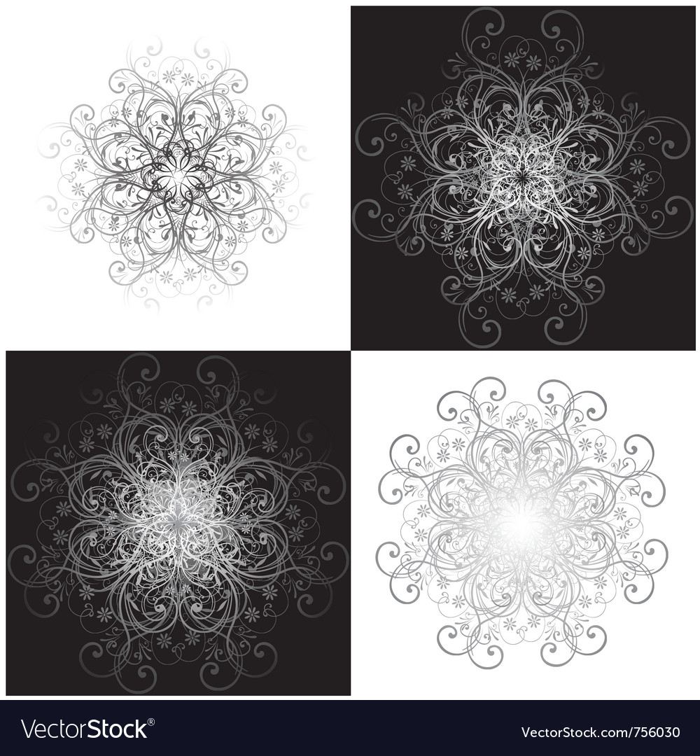 Gothic scroll background vector | Price: 1 Credit (USD $1)