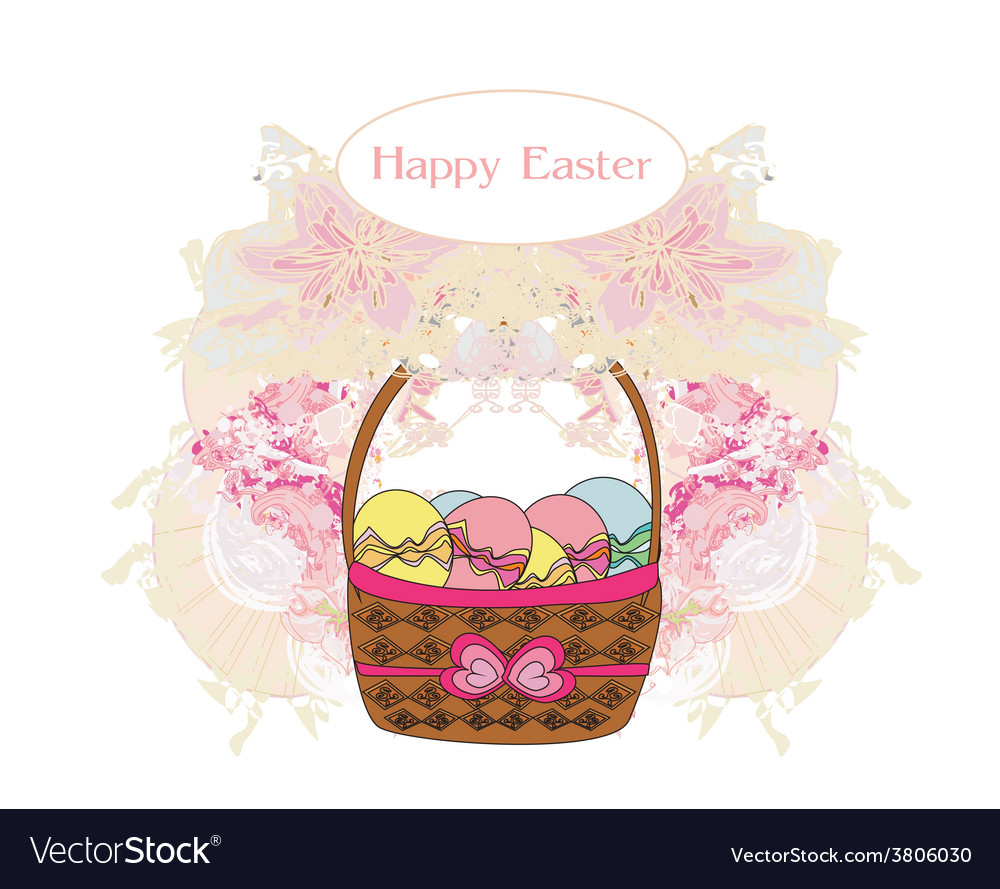 Happy easter border vector | Price: 1 Credit (USD $1)