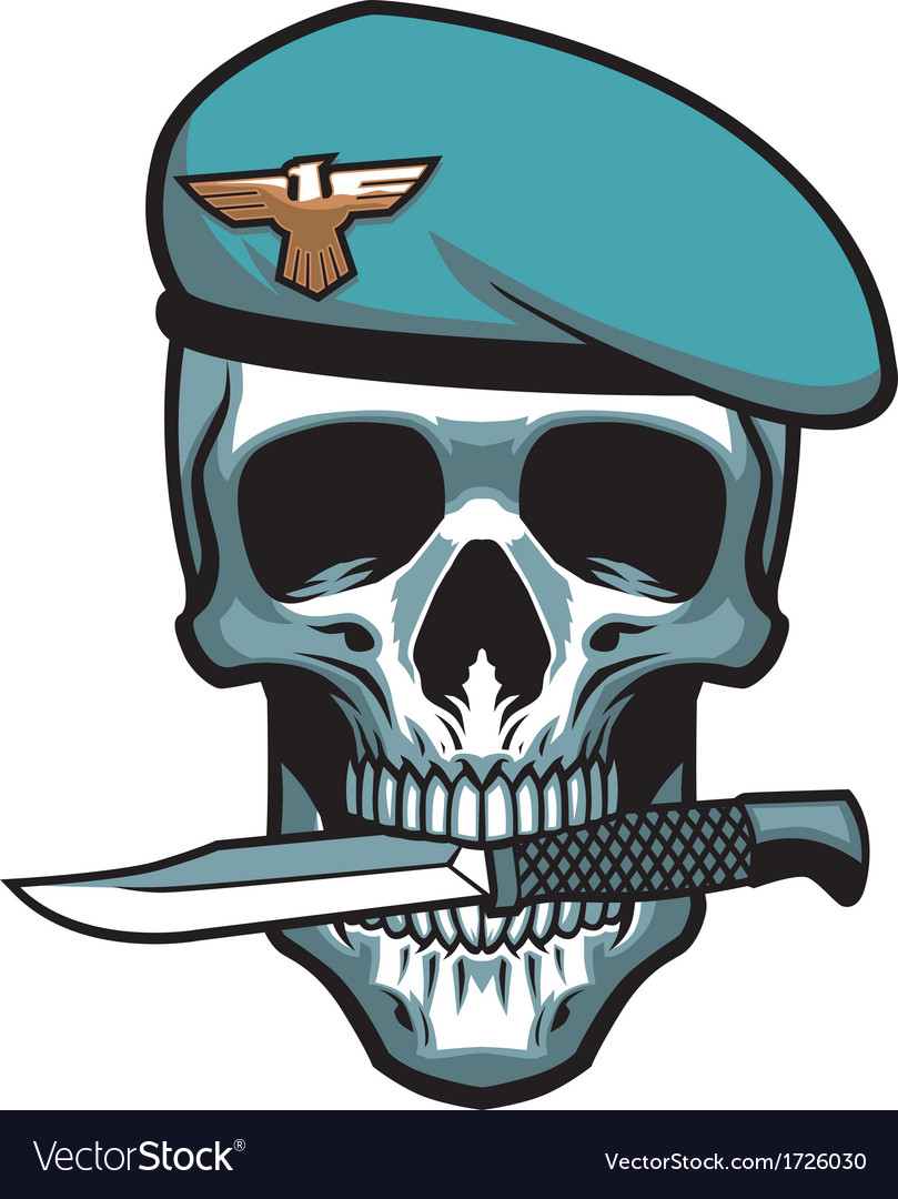 Military skull bite a dagger vector | Price: 1 Credit (USD $1)