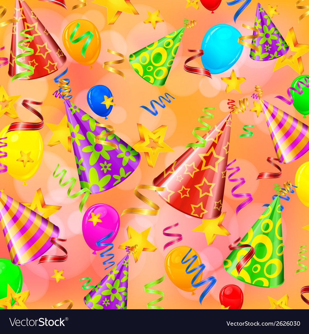 Party decorations background vector | Price: 1 Credit (USD $1)