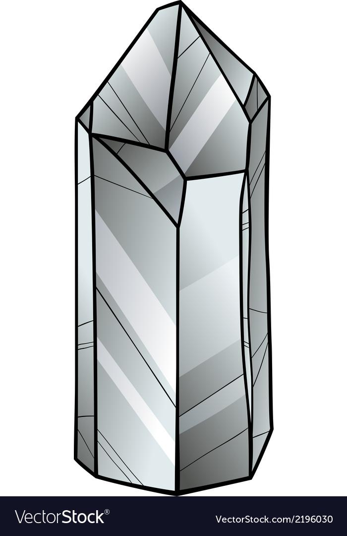 Quartz or crystal cartoon vector | Price: 1 Credit (USD $1)
