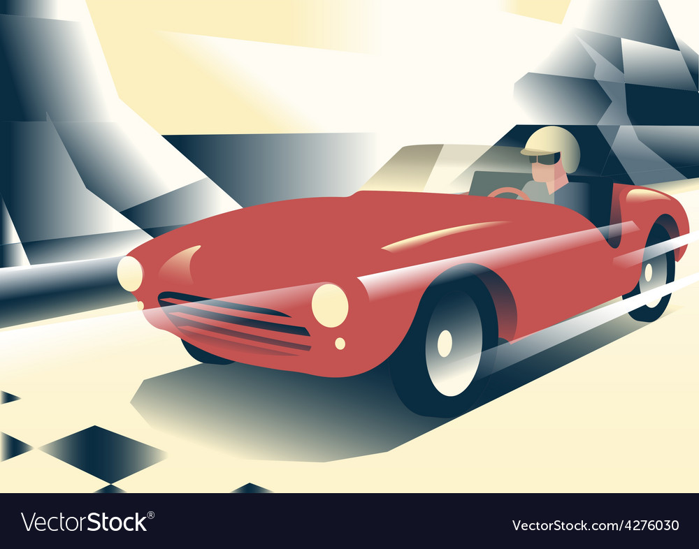 Red sport car vector | Price: 3 Credit (USD $3)