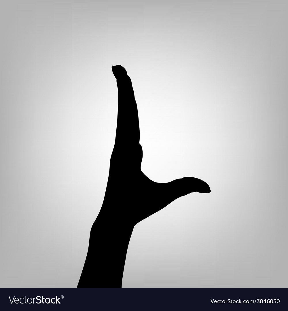 Silhouette woman hand letter l vector | Price: 1 Credit (USD $1)