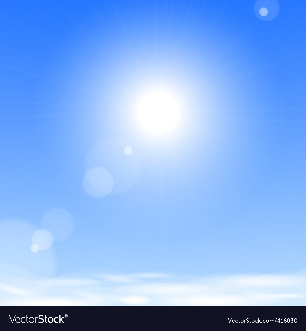 Sun above the clouds vector | Price: 1 Credit (USD $1)