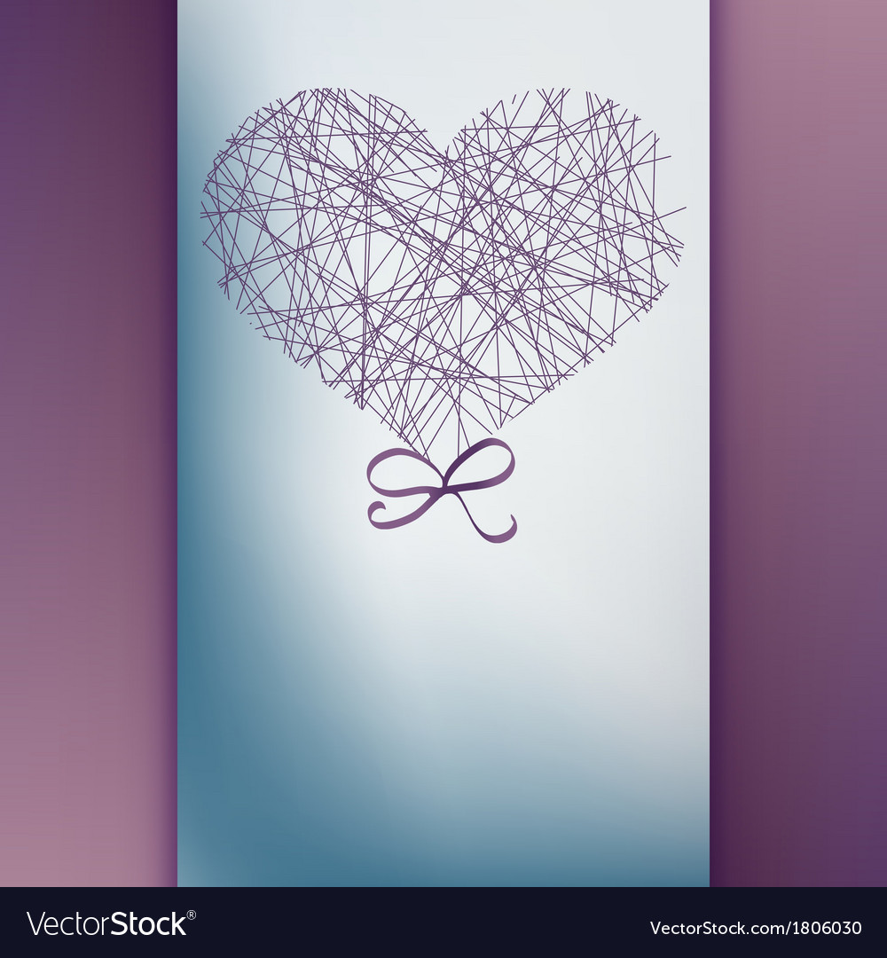 Valentines day card with copyspace  eps10 vector | Price: 1 Credit (USD $1)