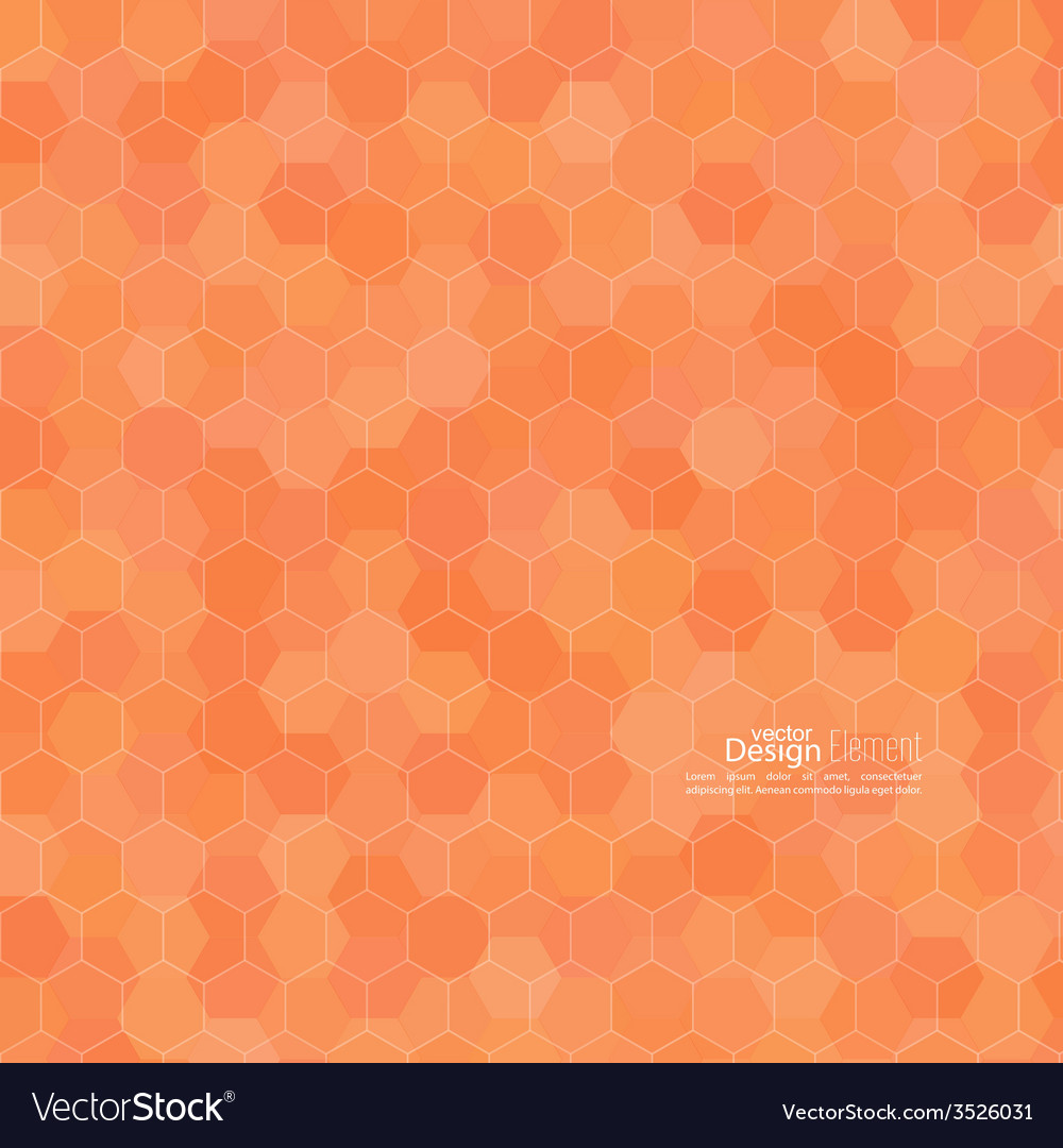 Abstract background of hexagonal shapes of vector | Price: 1 Credit (USD $1)