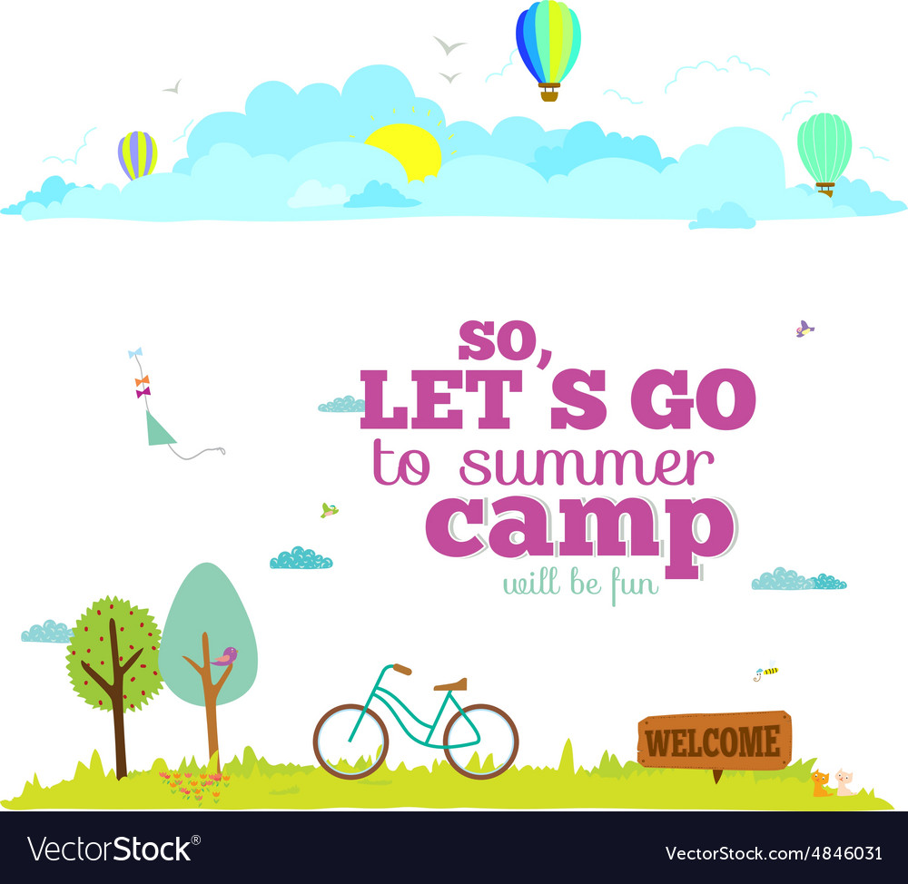 Banners for tourism or camp vector