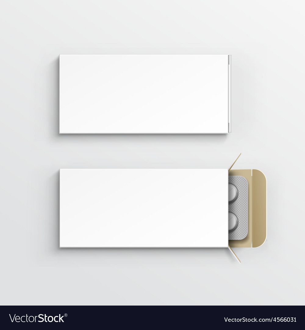 Blank package box for blister of pills vector   Price: 3 Credit (USD $3)