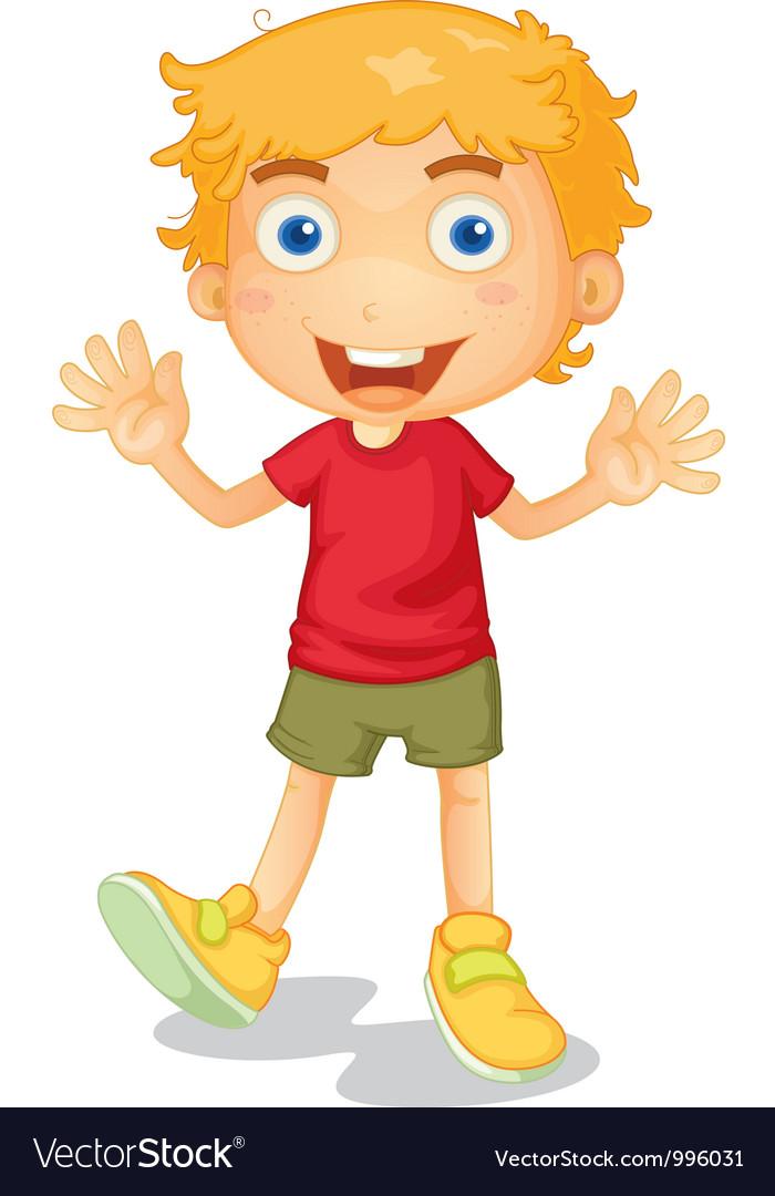 Cartoon young boy vector | Price: 1 Credit (USD $1)