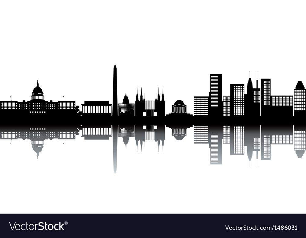 Cityscape silhouettes vector | Price: 1 Credit (USD $1)