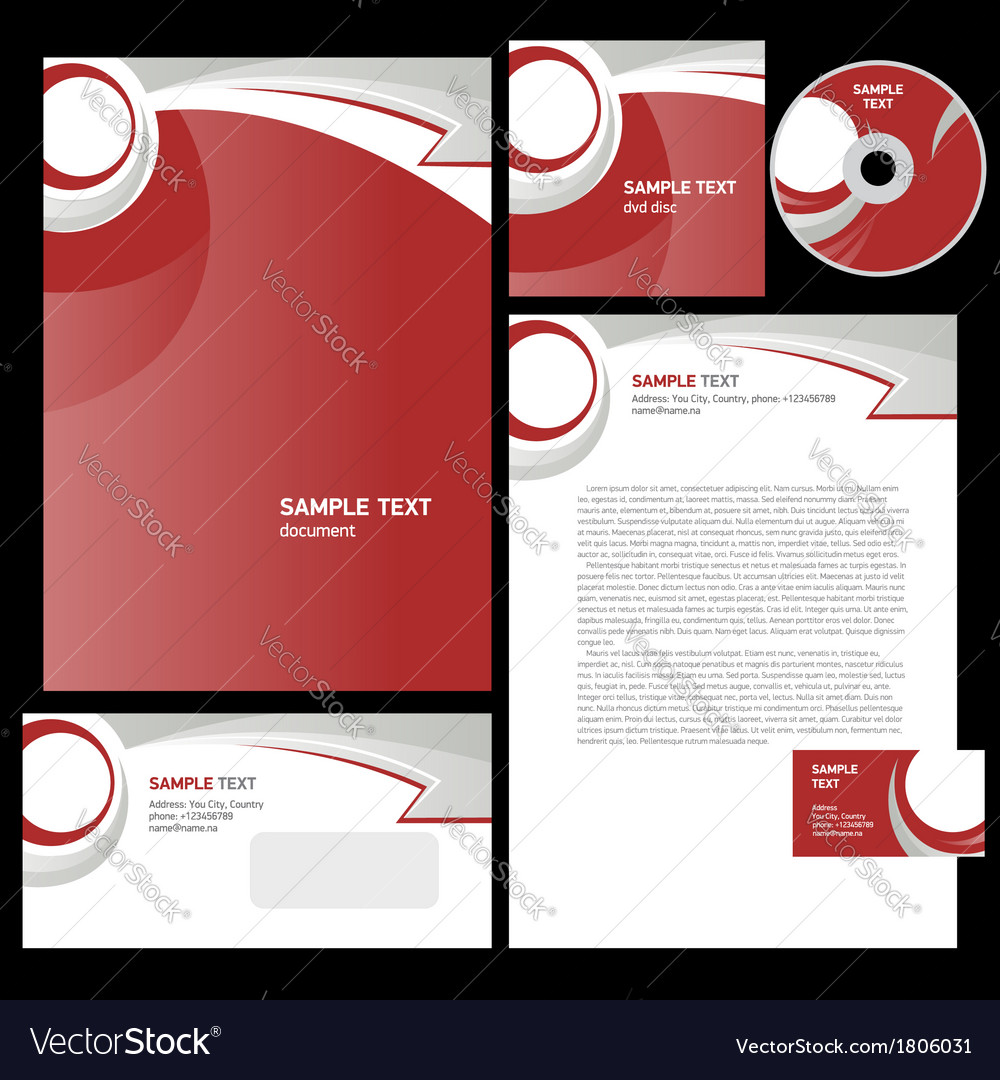 Corporate identity template design abstract arrow vector | Price: 1 Credit (USD $1)