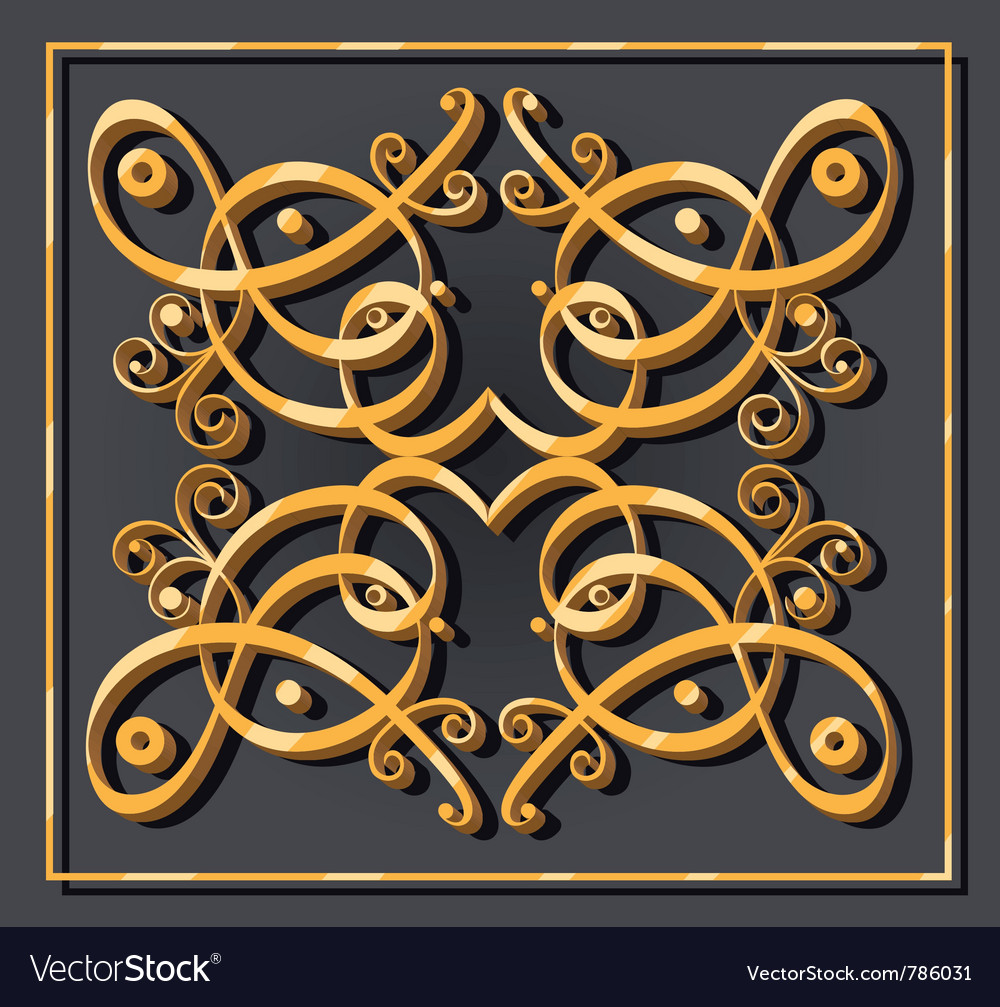 Decorative oriental element vector | Price: 1 Credit (USD $1)