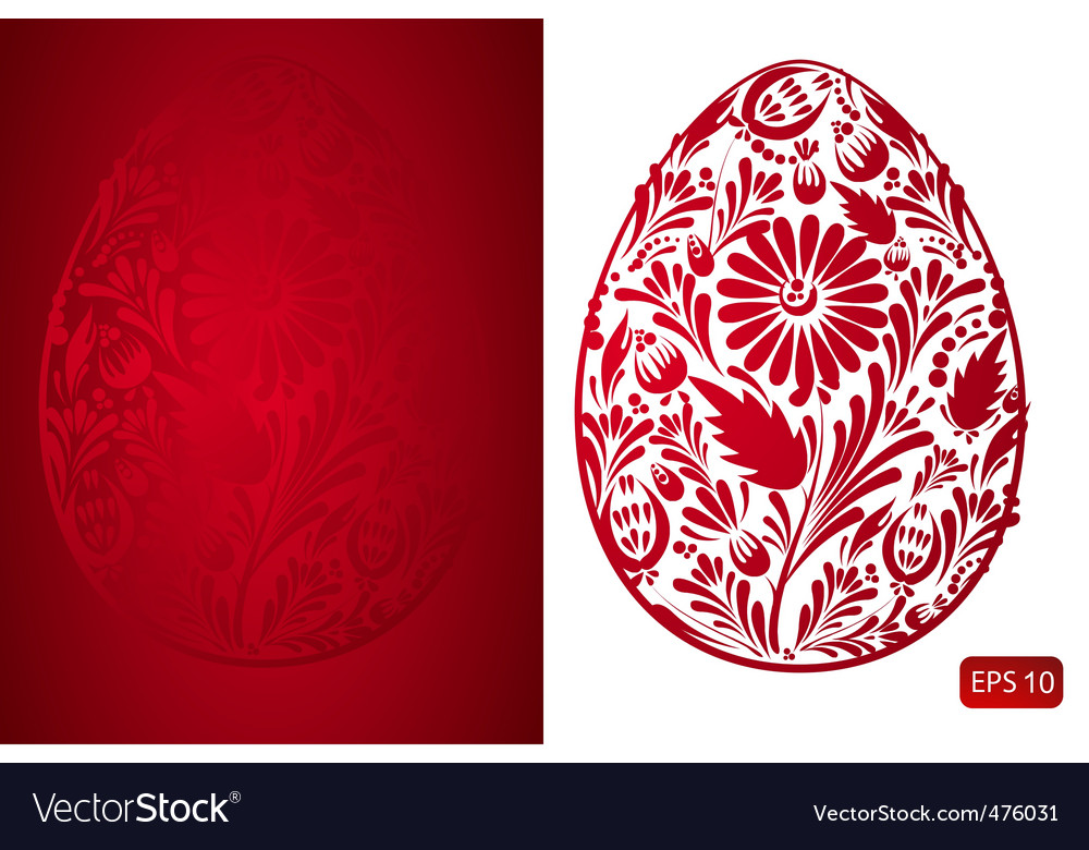 Floral easter eggs vector | Price: 1 Credit (USD $1)