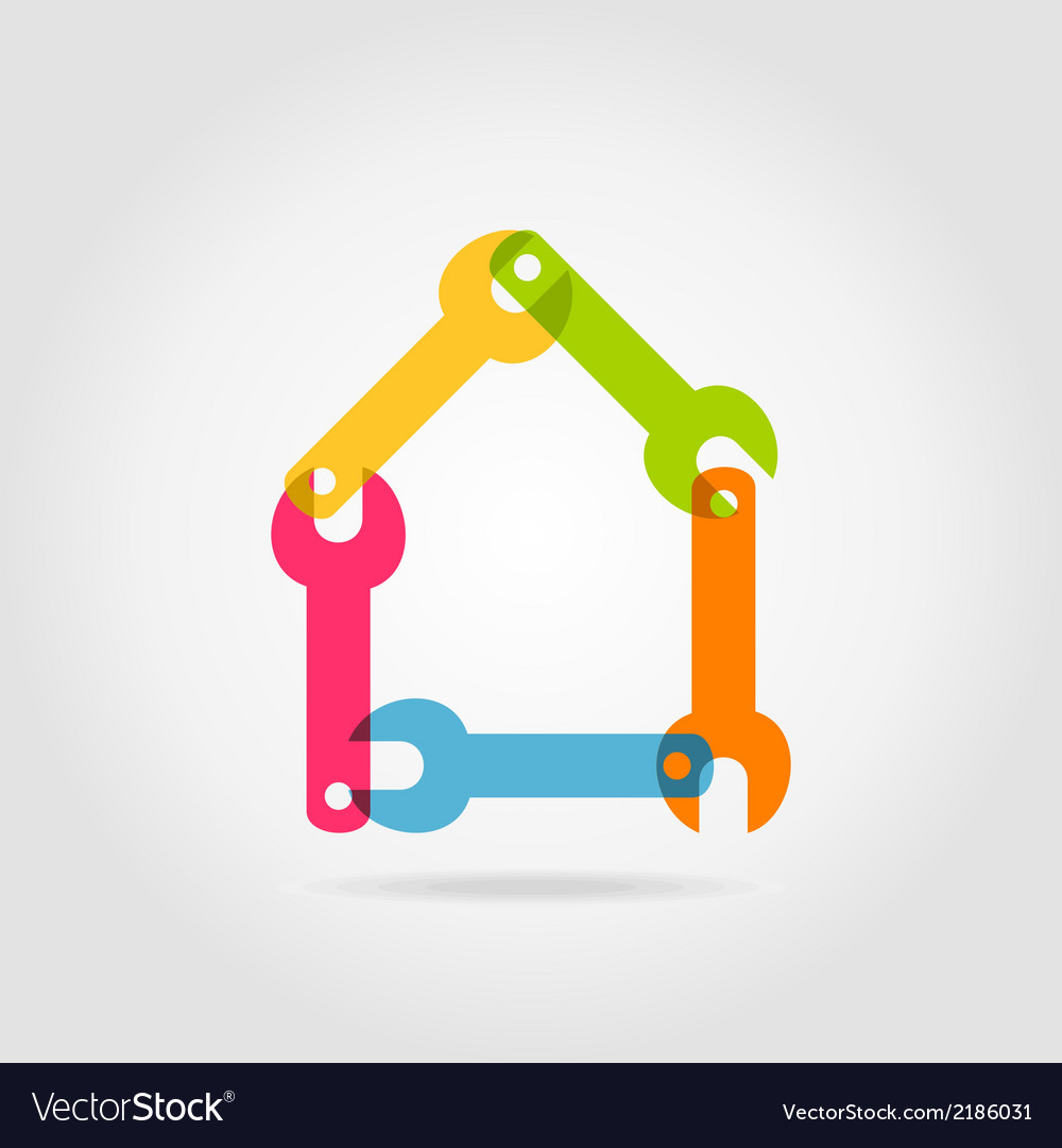 House a wrench vector | Price: 1 Credit (USD $1)