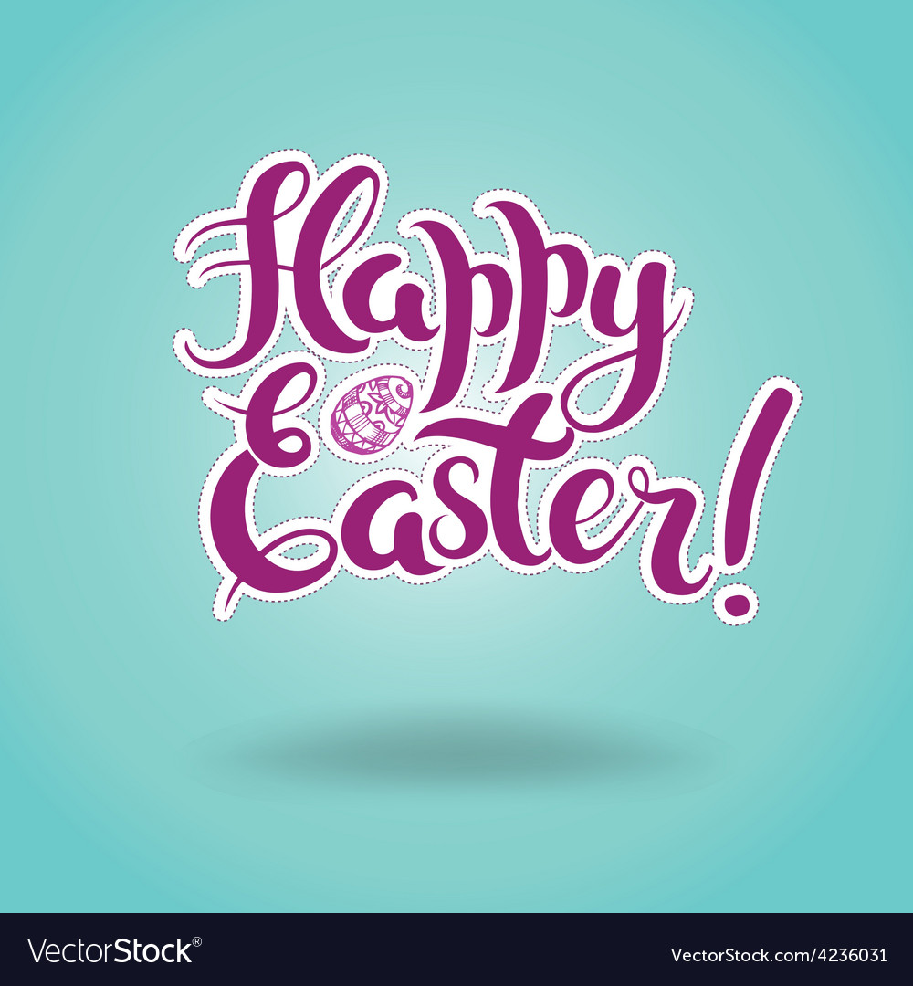 Lettering happy easter vector | Price: 1 Credit (USD $1)