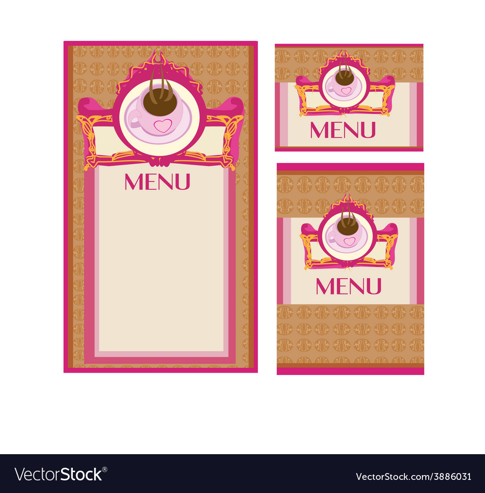 Menu coffee shop and restaurant set vector | Price: 1 Credit (USD $1)