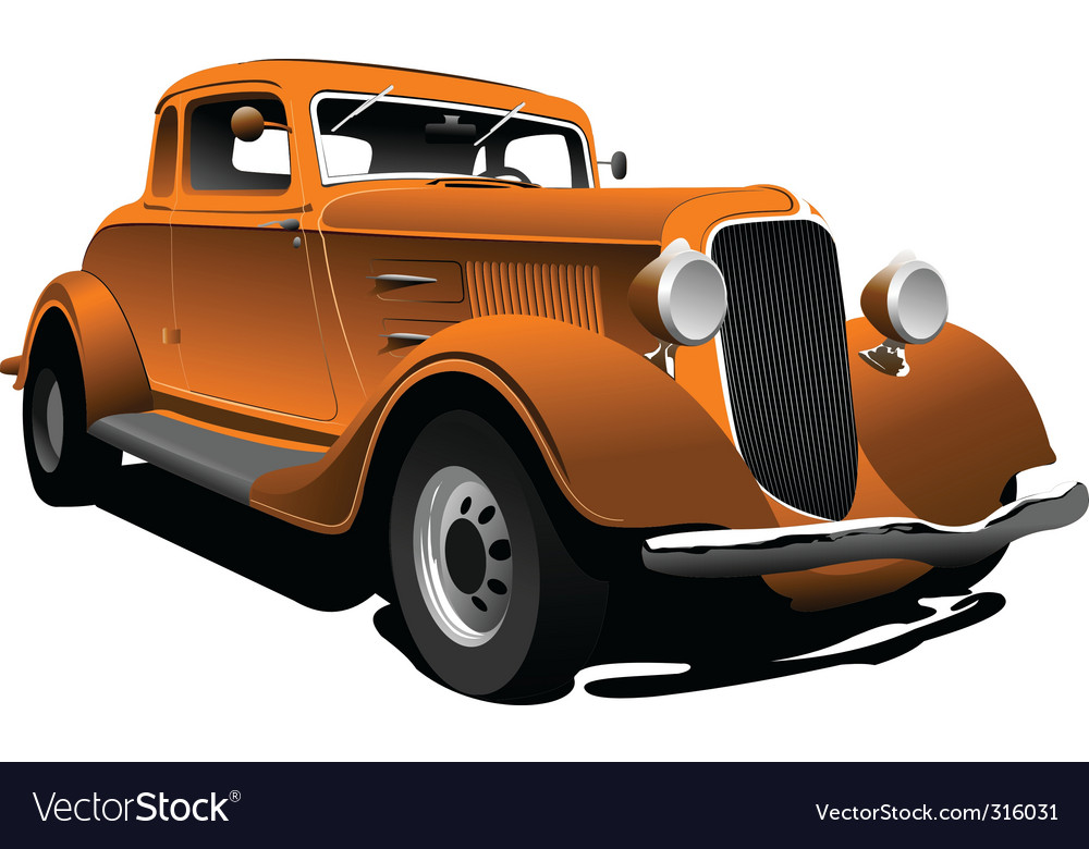 Old car vector | Price: 3 Credit (USD $3)