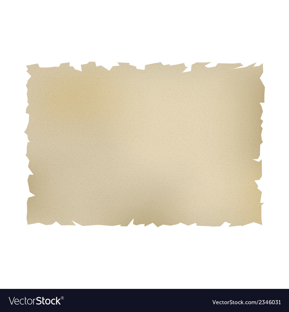 Old paper over white vector | Price: 1 Credit (USD $1)