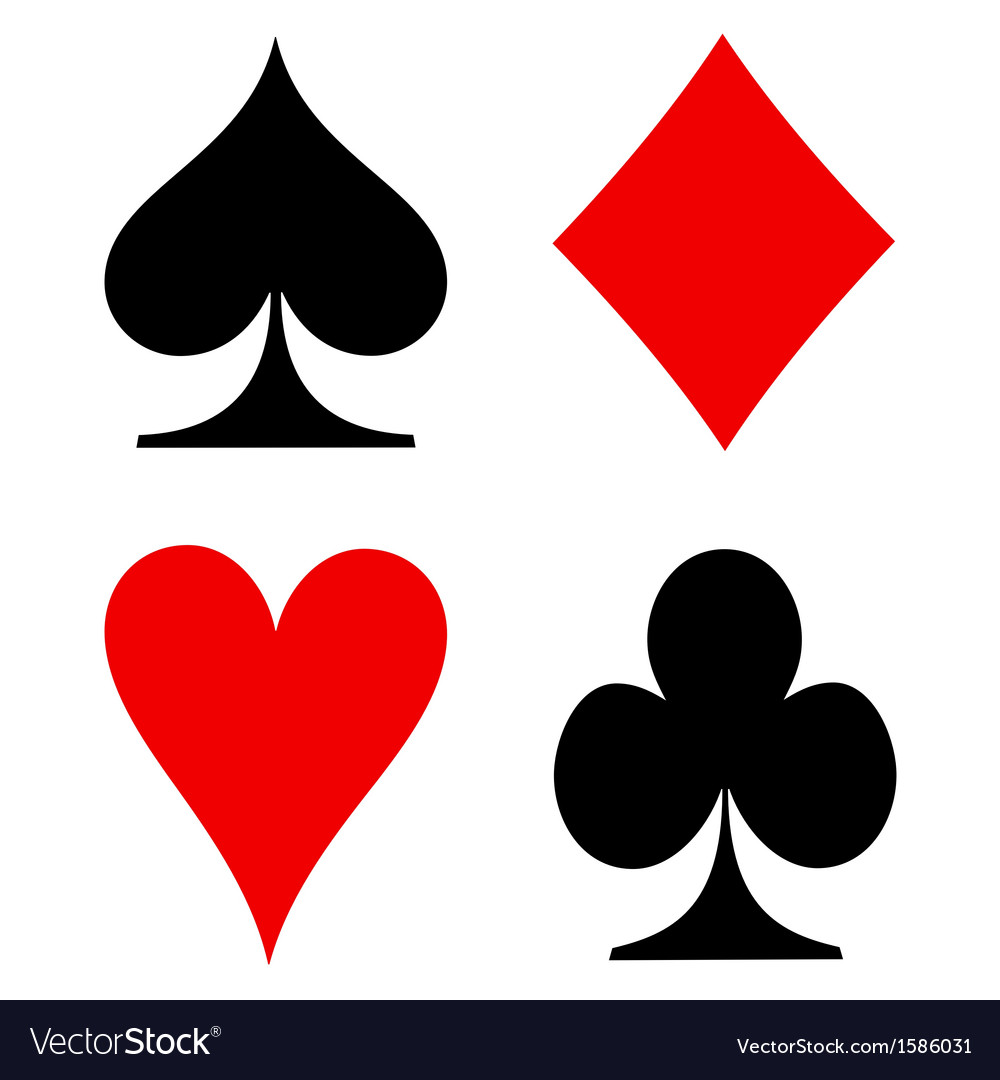 Playing cards signs vector | Price: 1 Credit (USD $1)