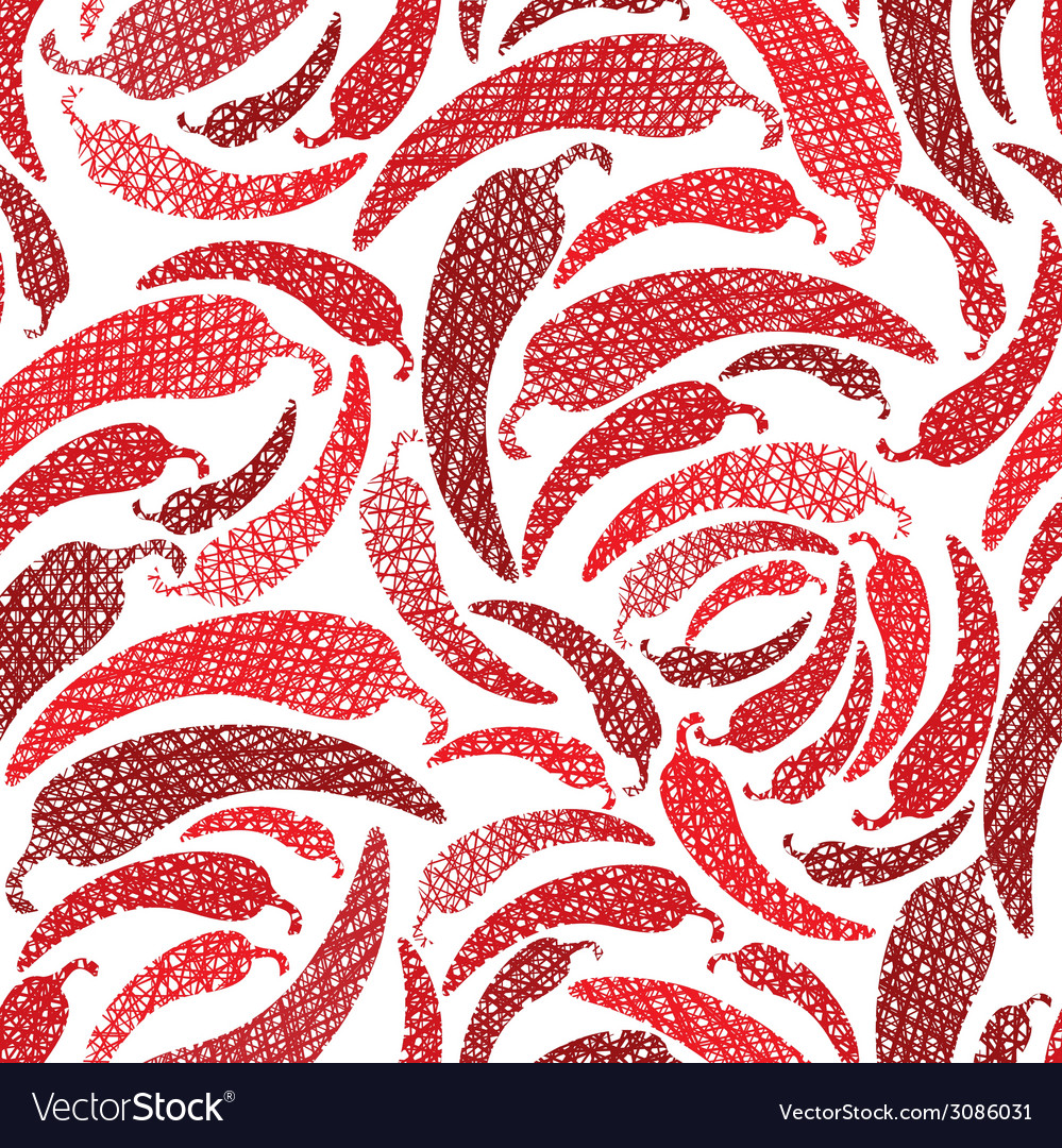 Red hot chilly peppers seamless pattern mexican vector | Price: 1 Credit (USD $1)