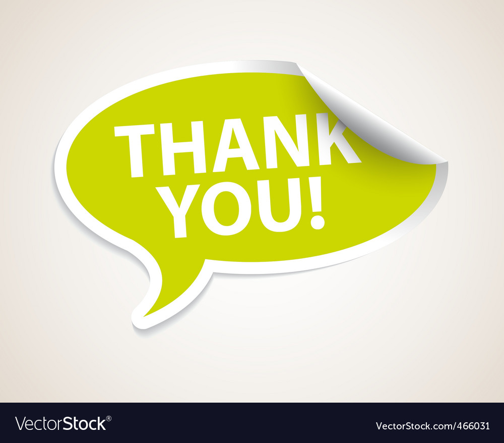 Thank you speech bubble vector | Price: 1 Credit (USD $1)