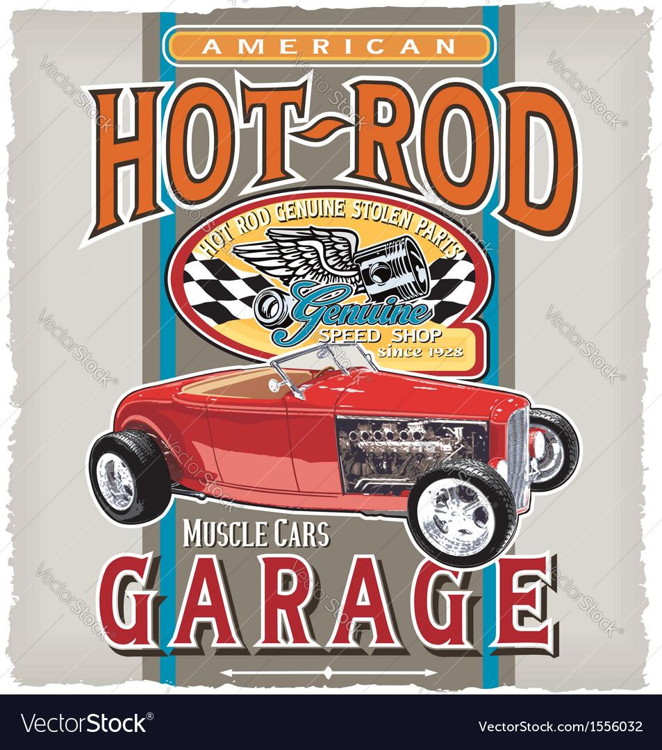 American car garage vector   Price: 1 Credit (USD $1)