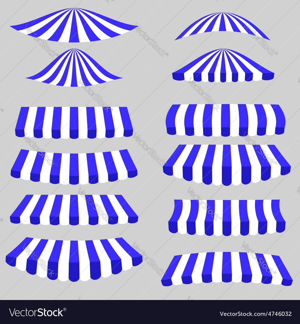 Blue white tents vector | Price: 1 Credit (USD $1)