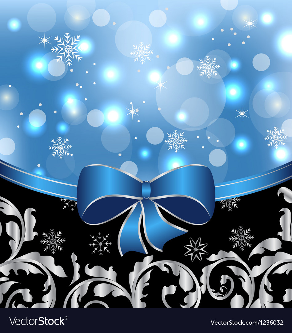 Christmas floral packing ornamental design vector | Price: 1 Credit (USD $1)