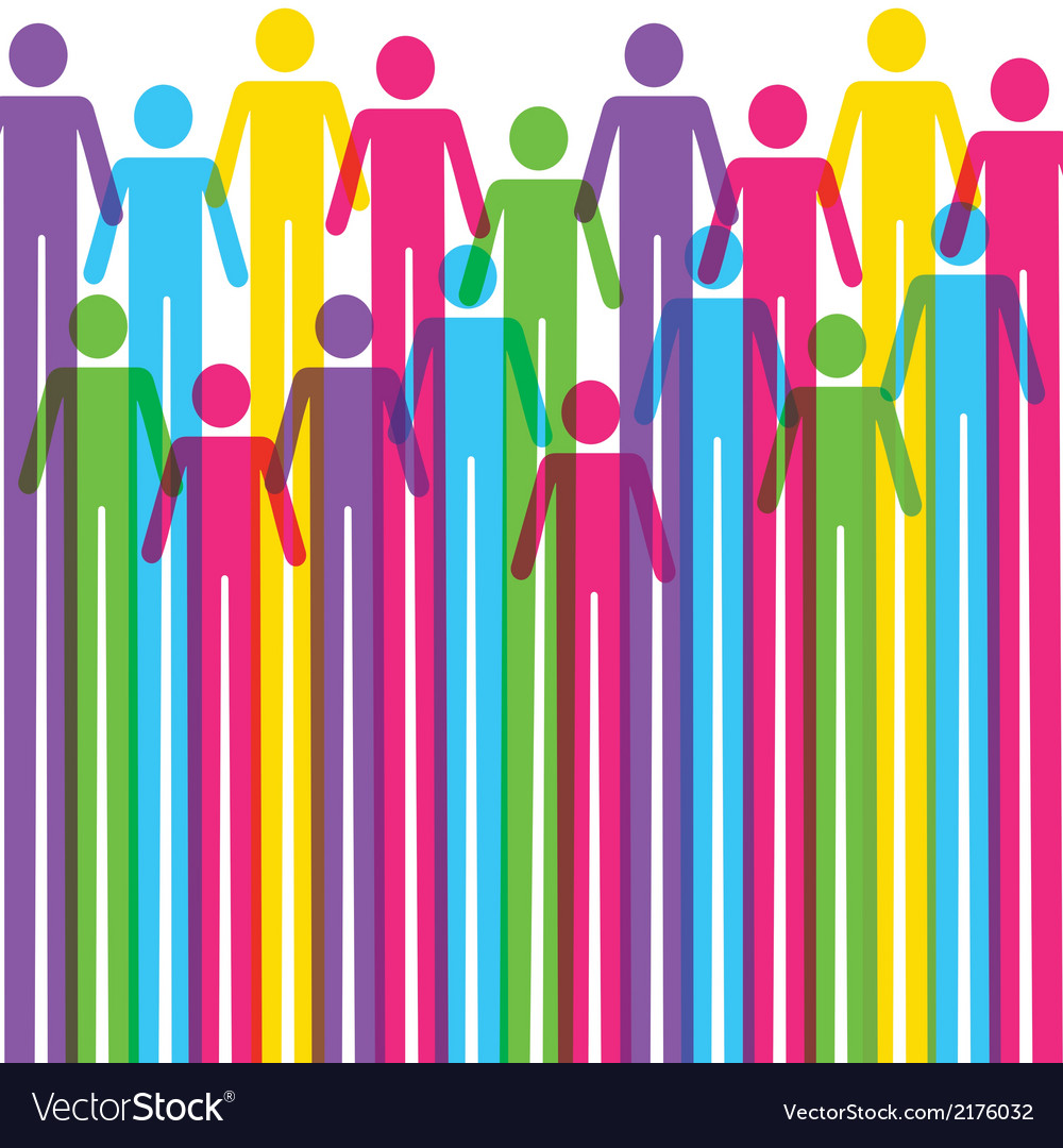 Colorful man icon background vector | Price: 1 Credit (USD $1)