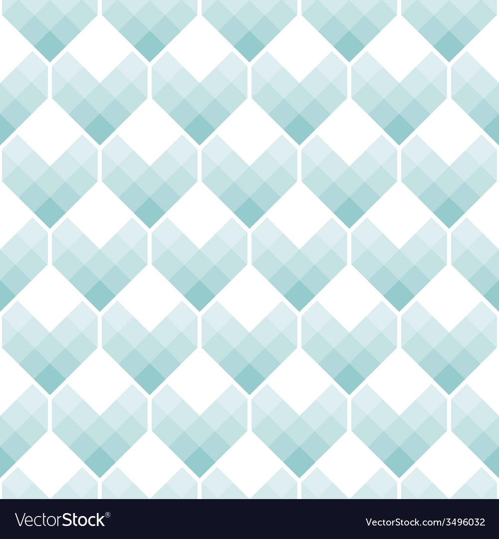 Heart shapes seamless pattern mosaic style vector | Price: 1 Credit (USD $1)