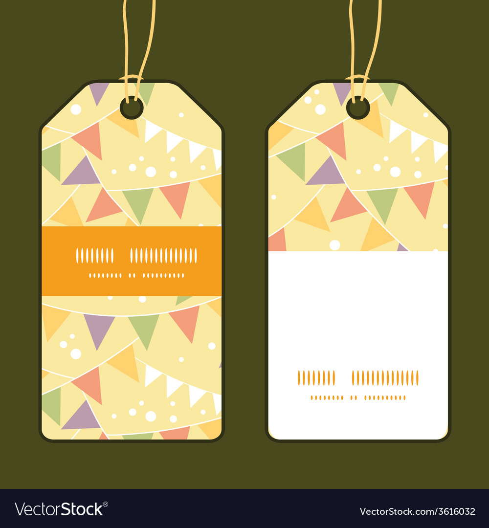 Party decorations bunting vertical stripe frame vector | Price: 1 Credit (USD $1)