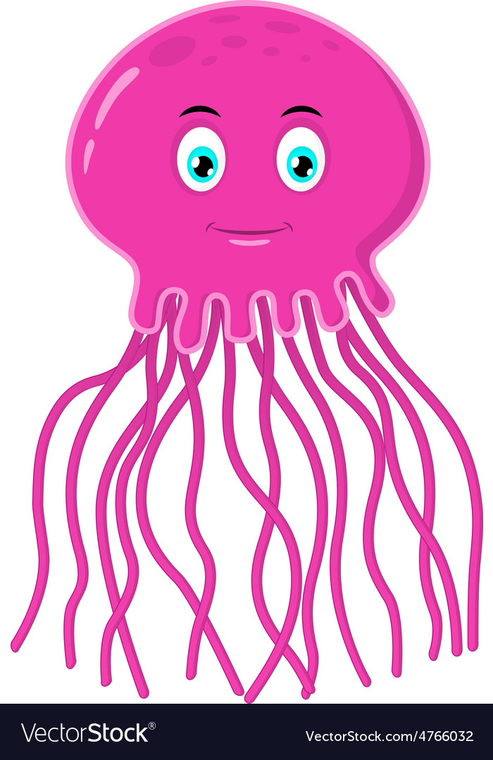 Pink jelly fish vector | Price: 1 Credit (USD $1)