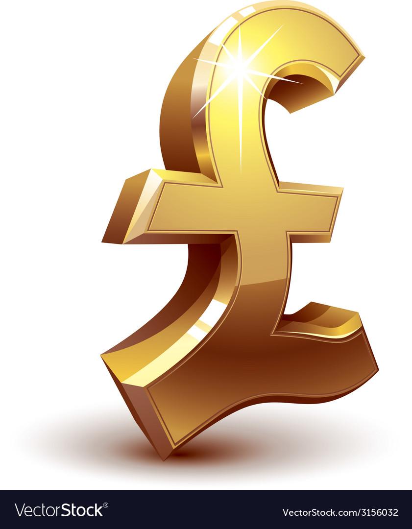 Pound symbol vector | Price: 1 Credit (USD $1)