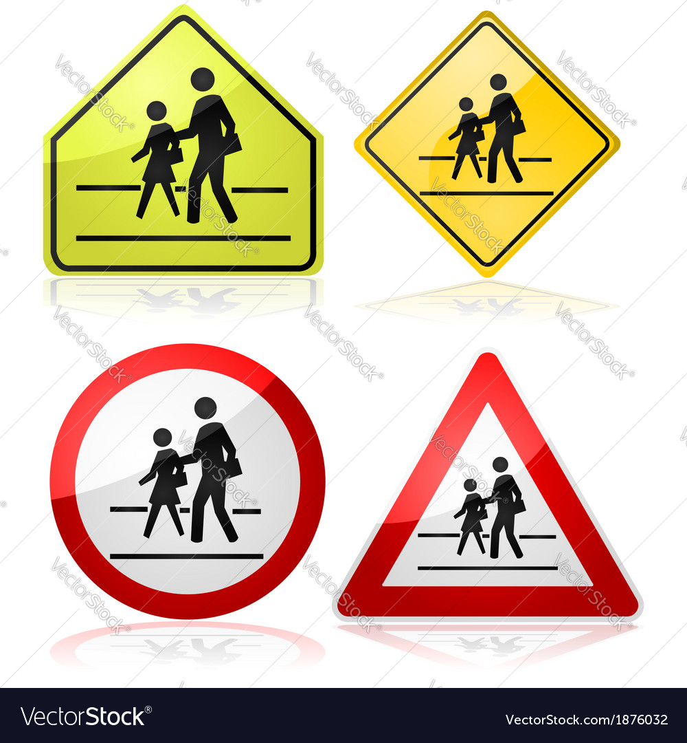 School signs vector | Price: 1 Credit (USD $1)