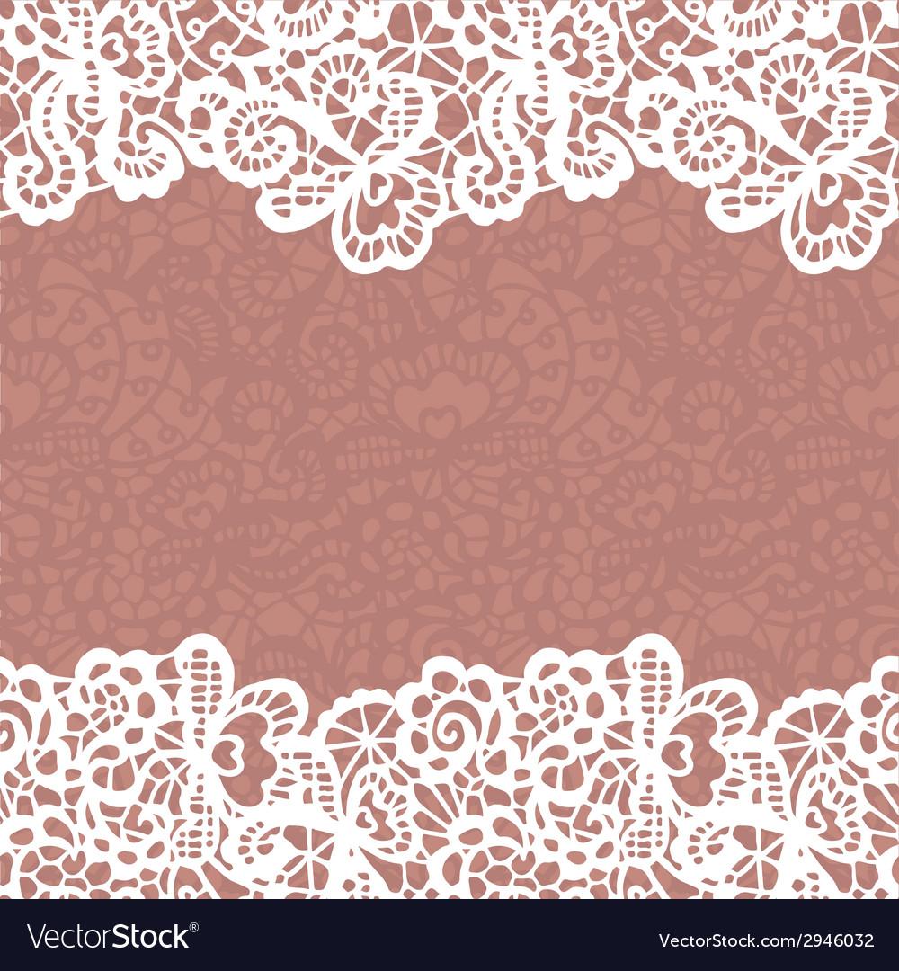 Seamless lace border invitation card vector | Price: 1 Credit (USD $1)