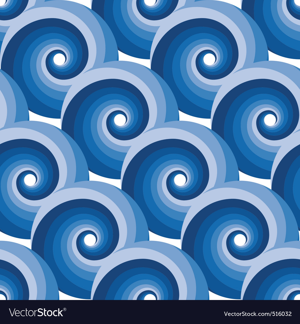 Seamless water wave pattern vector | Price: 1 Credit (USD $1)