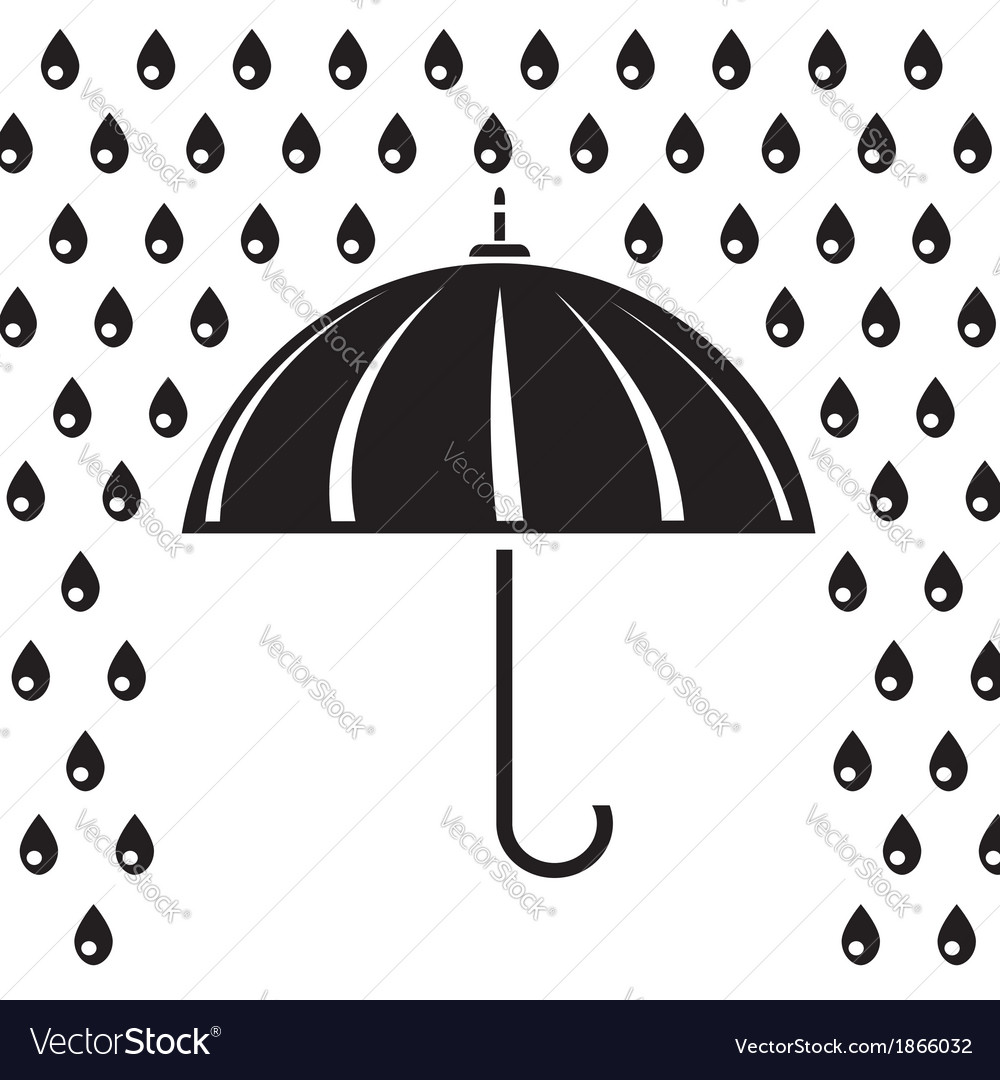 Silhouette of umbrella vector | Price: 1 Credit (USD $1)