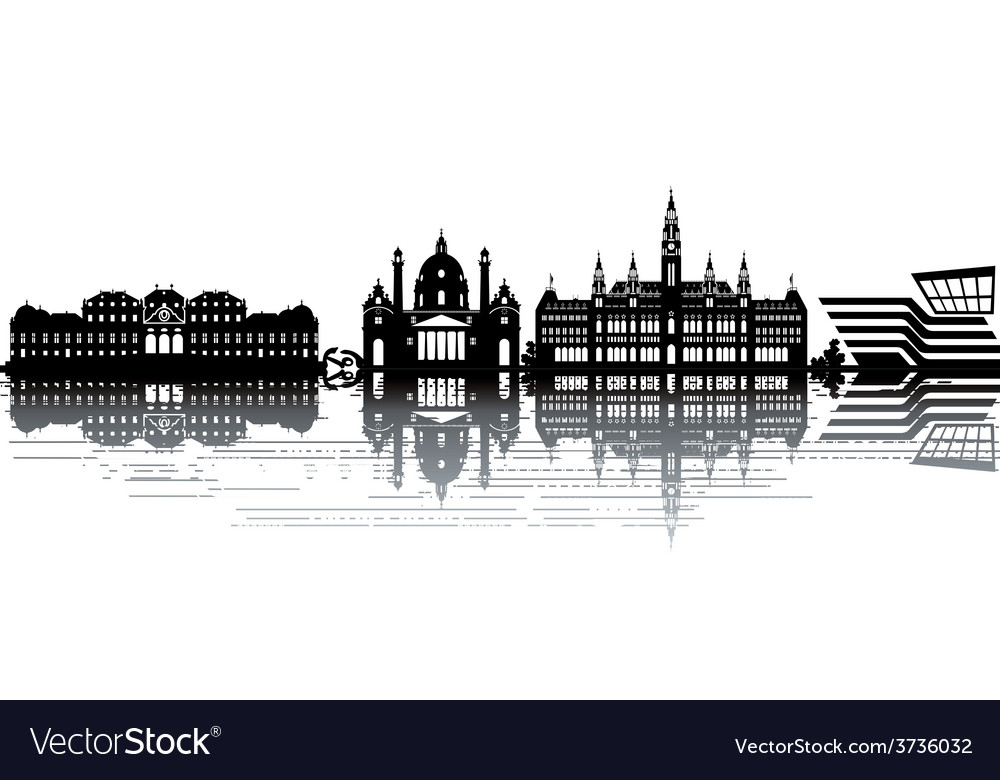 Vienna skyline vector | Price: 1 Credit (USD $1)