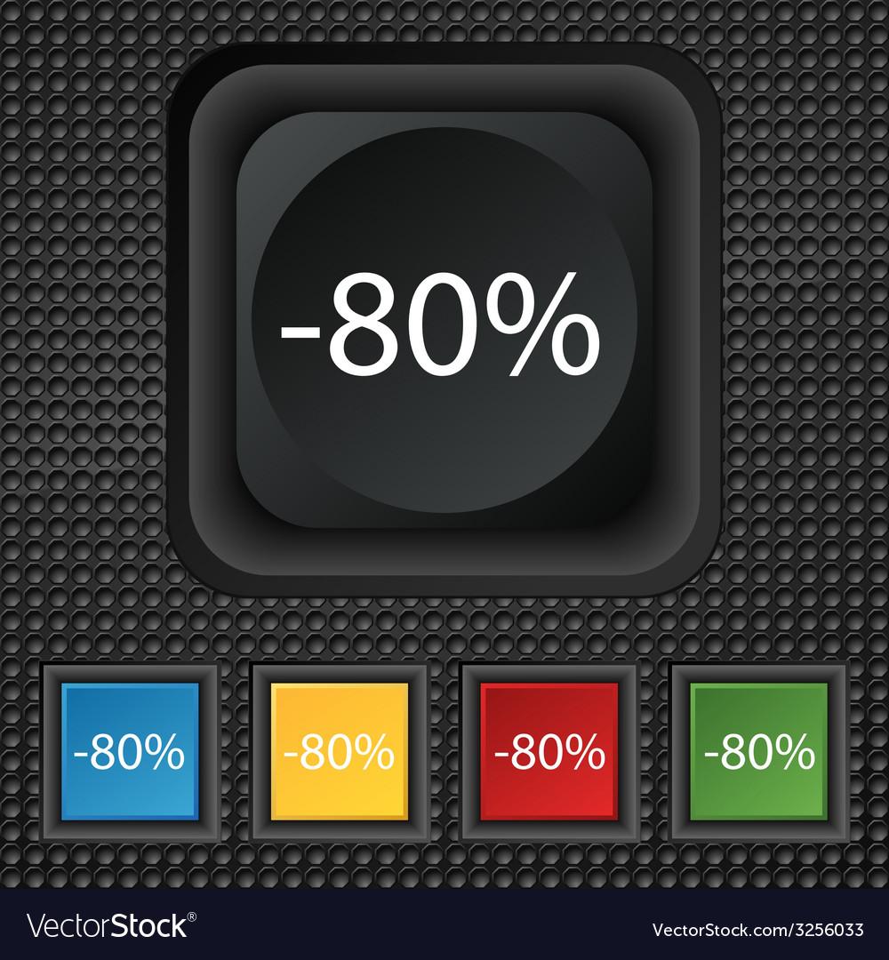 80 percent discount sign icon sale symbol special vector   Price: 1 Credit (USD $1)