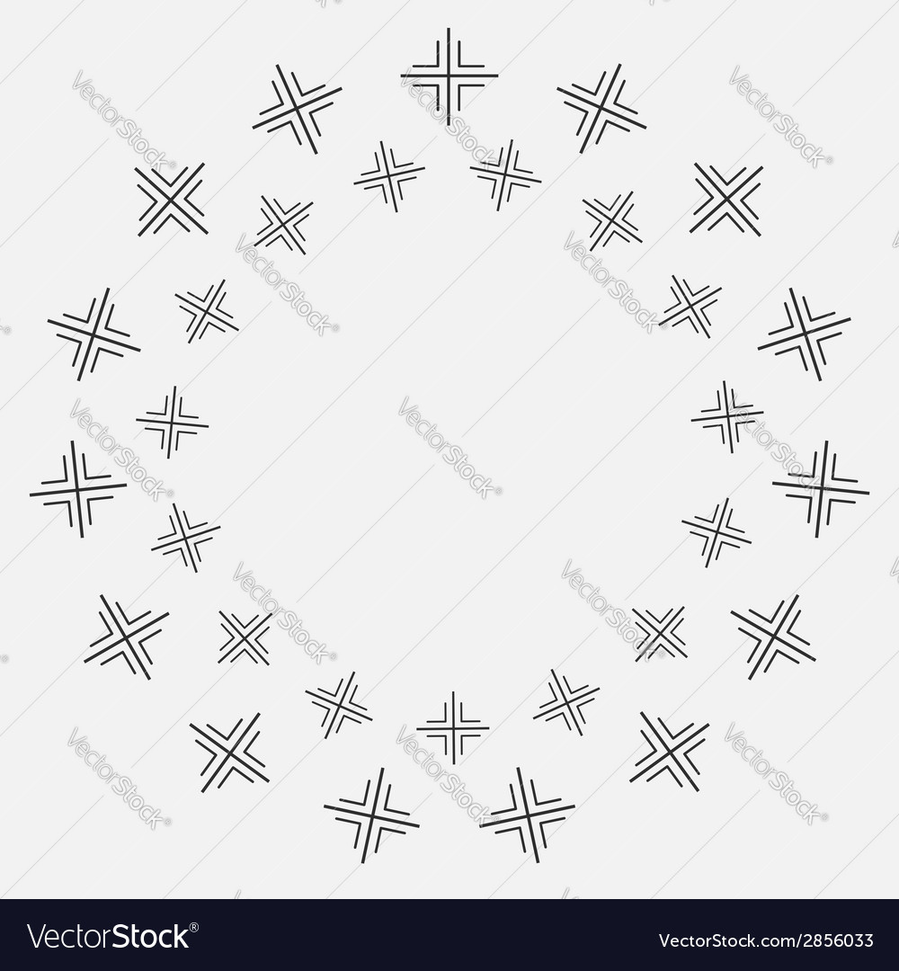 Abstract round circle gray frame isolated vector | Price: 1 Credit (USD $1)