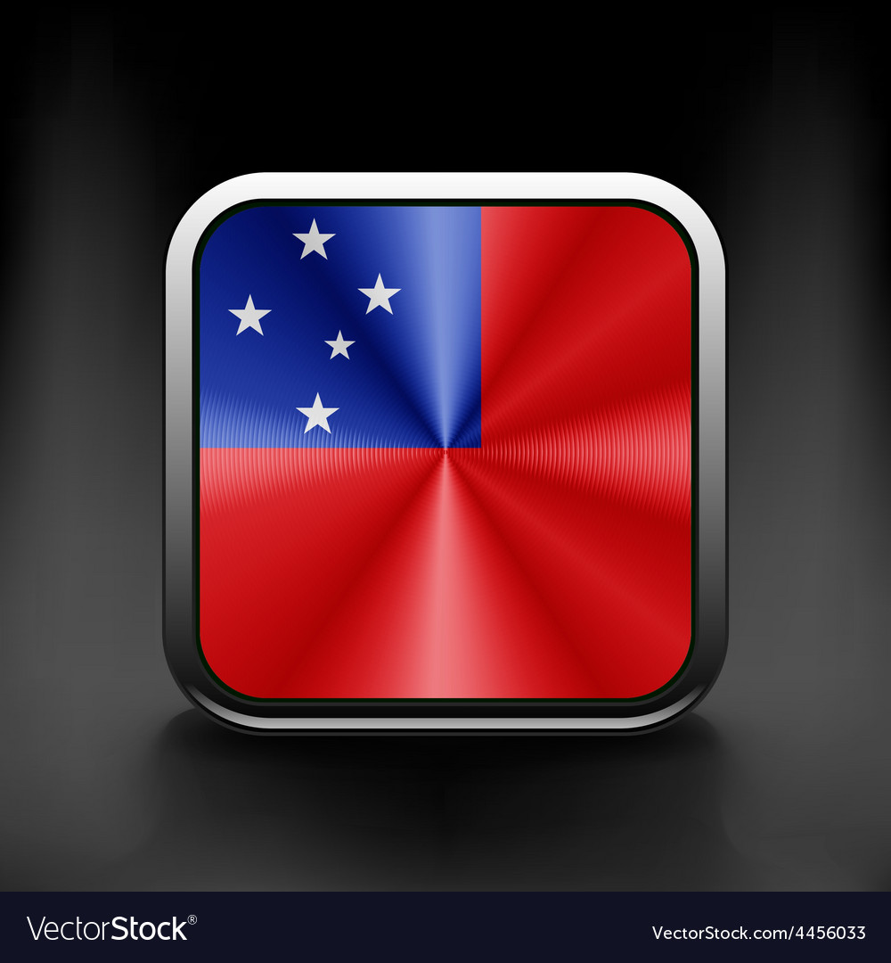 Flag of samoa national travel icon country symbol vector | Price: 1 Credit (USD $1)