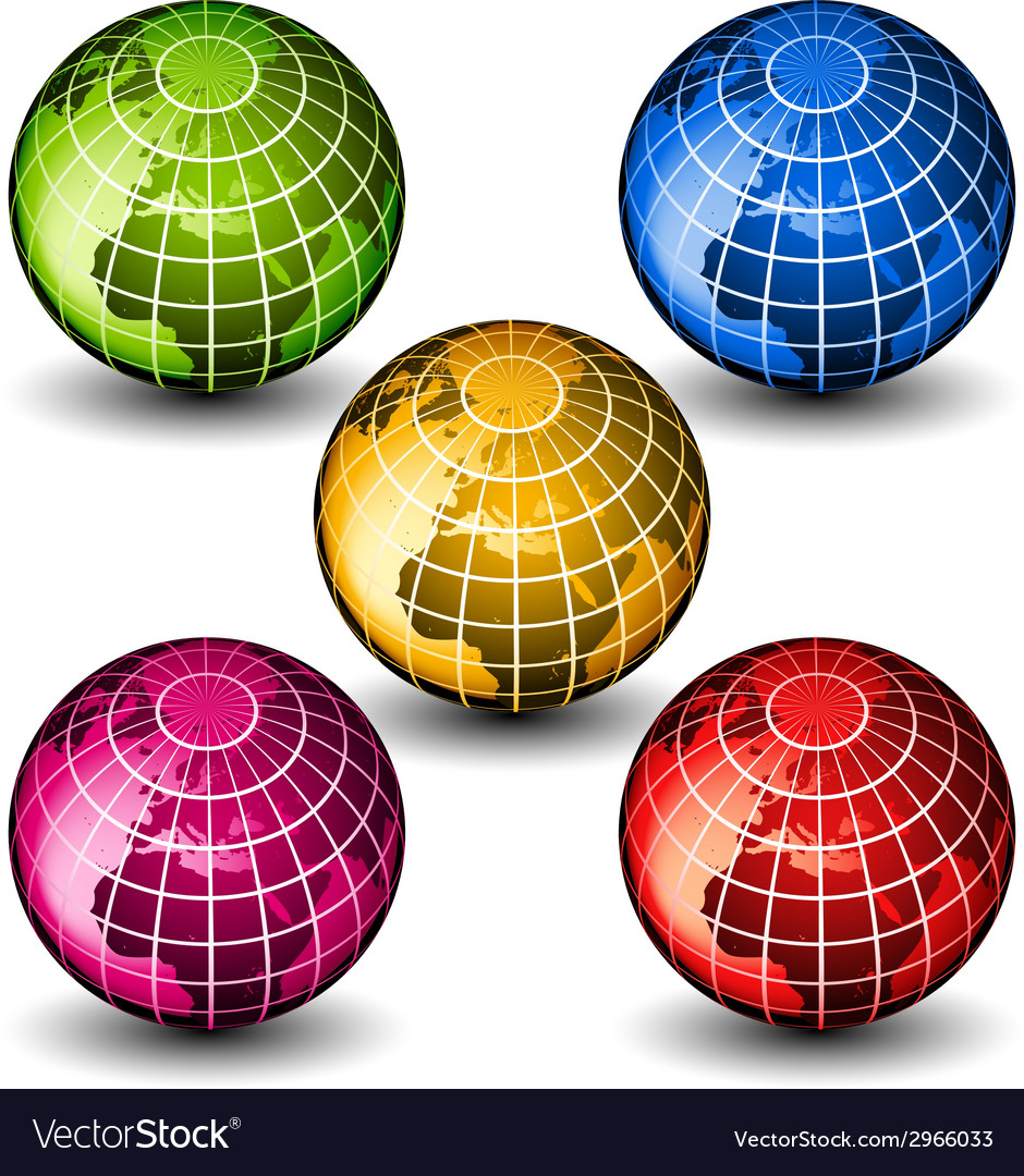 Glass globes vector | Price: 1 Credit (USD $1)