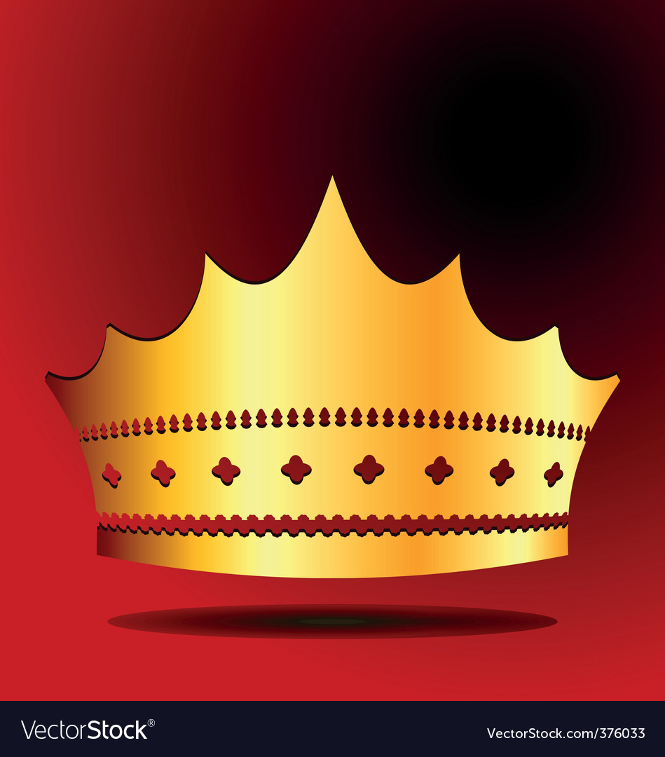 Illustration the gold royal crown vector | Price: 1 Credit (USD $1)
