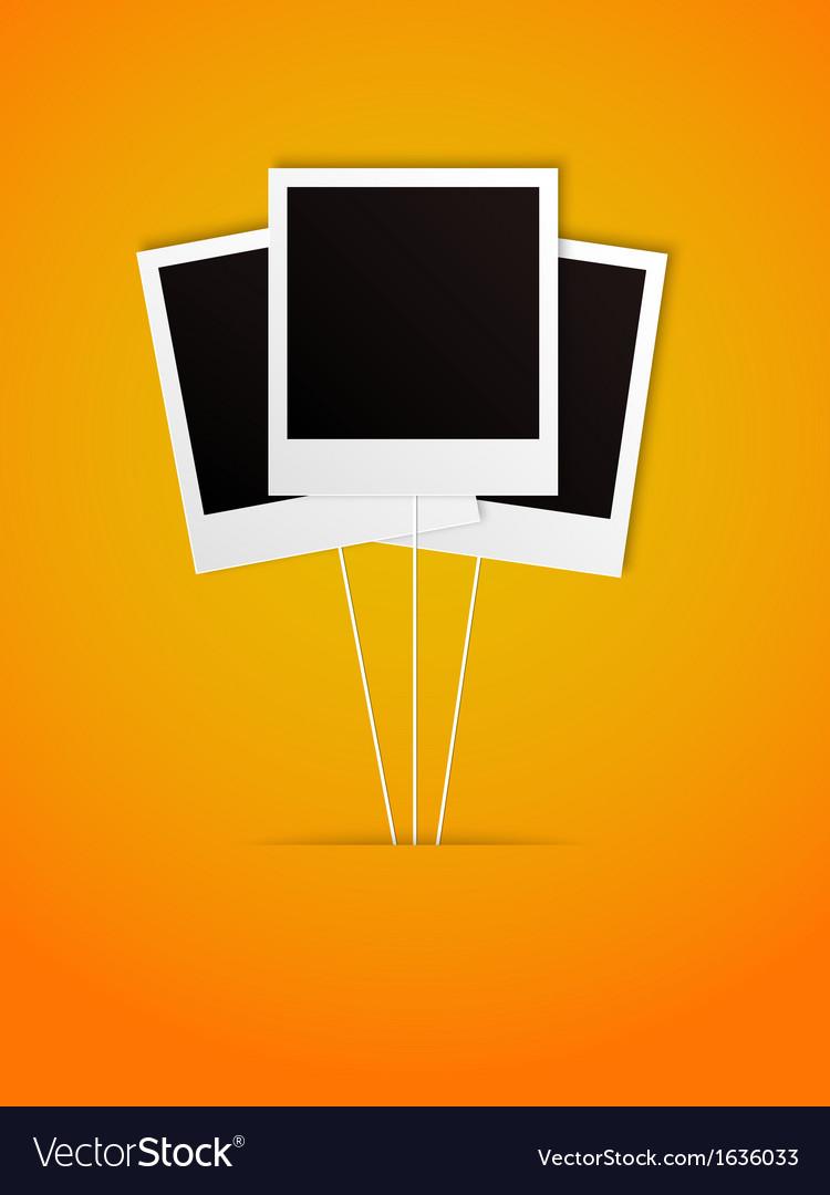 Happy polaroid frame vector | Price: 1 Credit (USD $1)