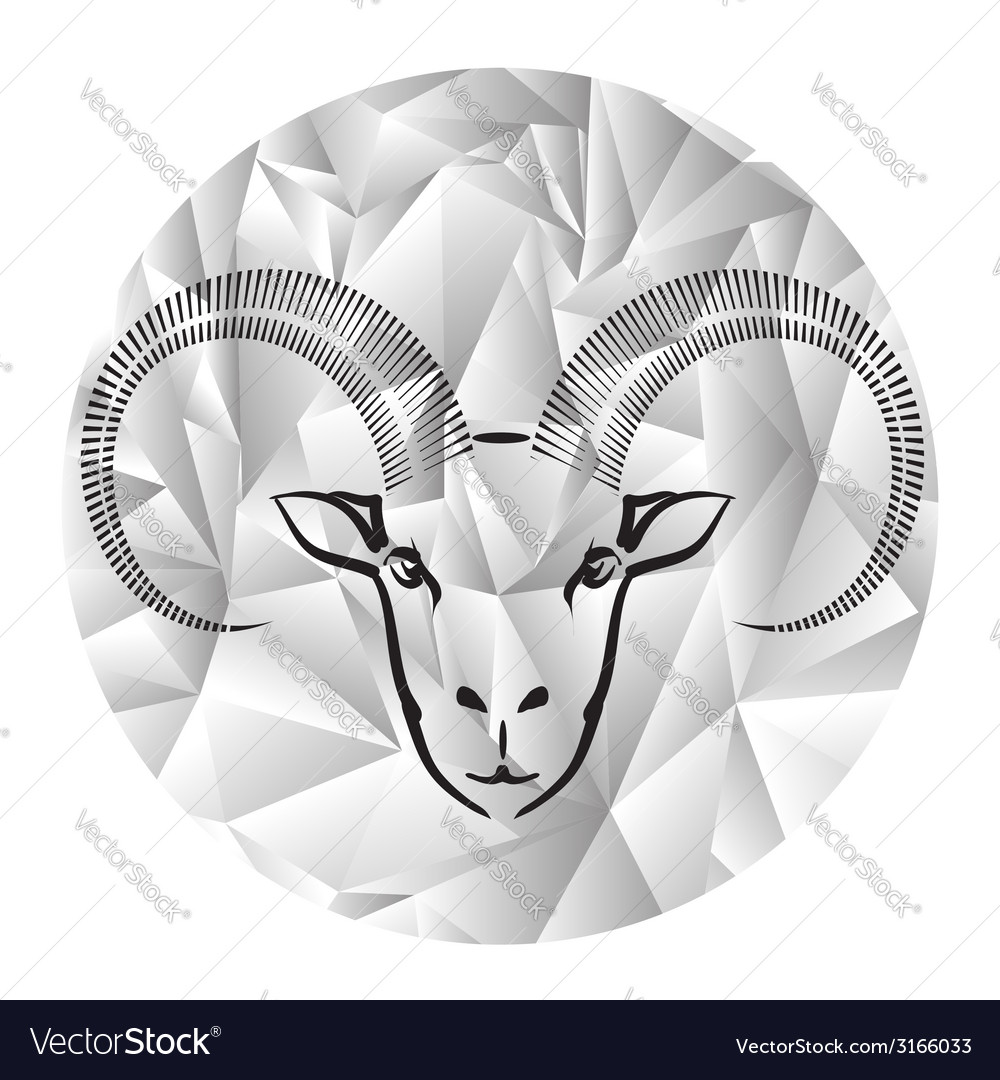 Head of ram vector | Price: 1 Credit (USD $1)