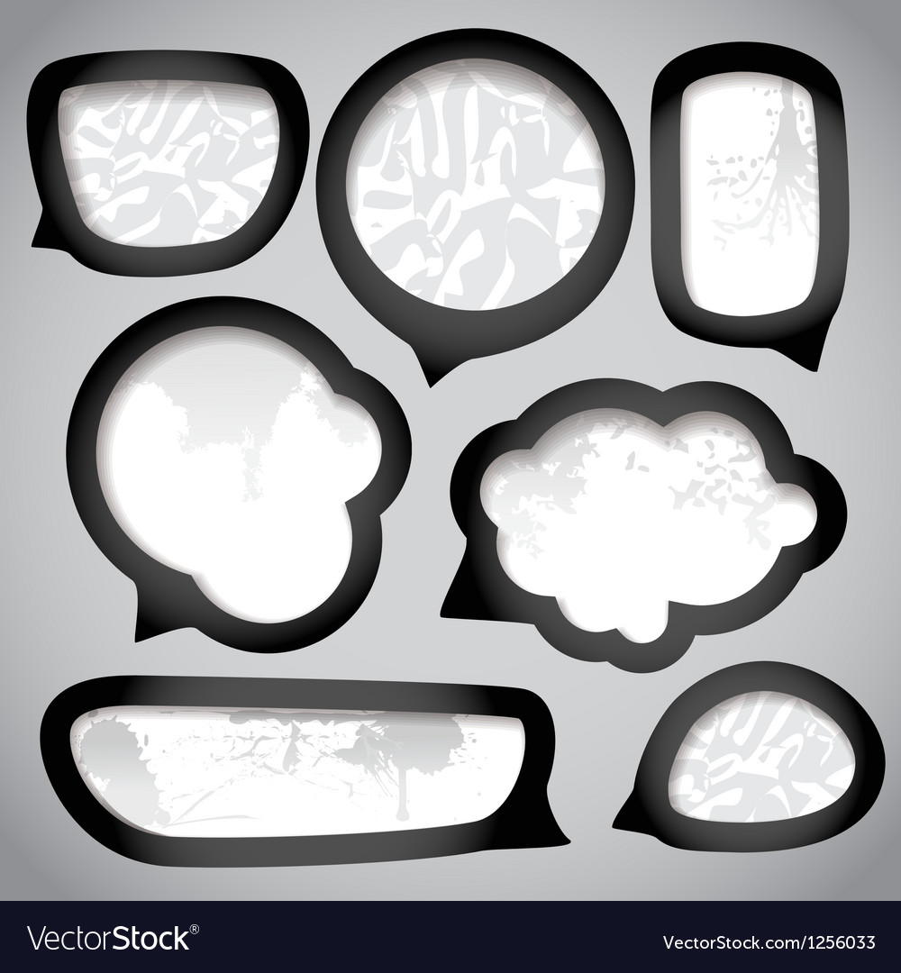 Paper speech clouds vintage style vector | Price: 1 Credit (USD $1)