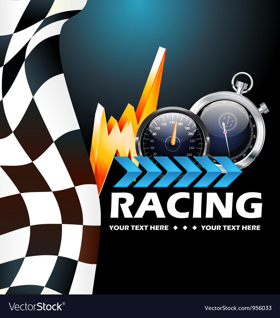 Racing poster vector | Price: 1 Credit (USD $1)