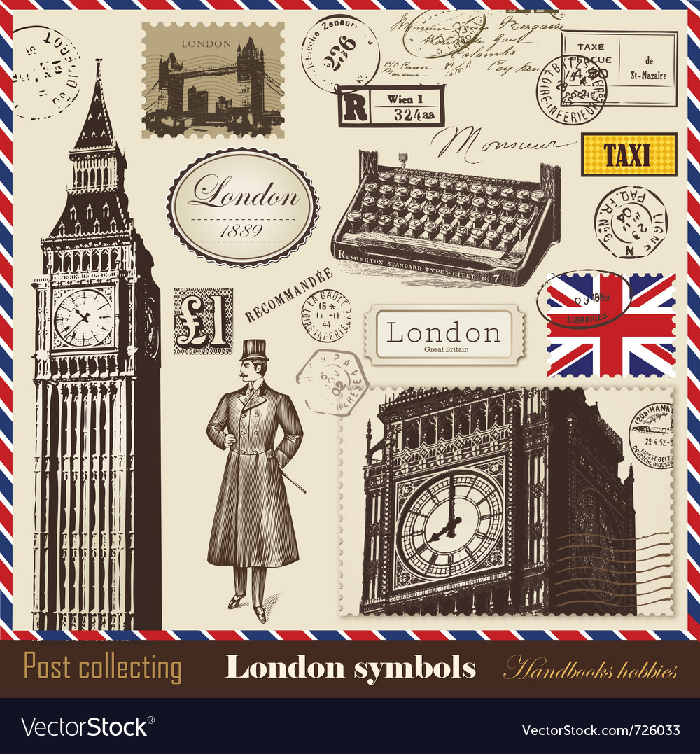 Set of london symbols vector | Price: 1 Credit (USD $1)